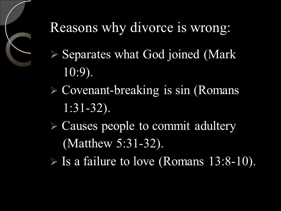 What does christianity say about divorce