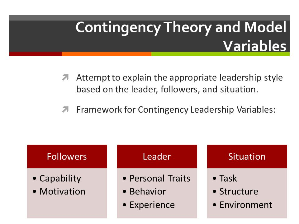 contingency leadership style definition