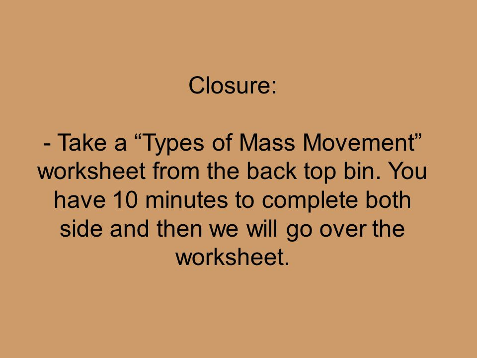 Aim What Is Mass Movement Ppt Video Online Download