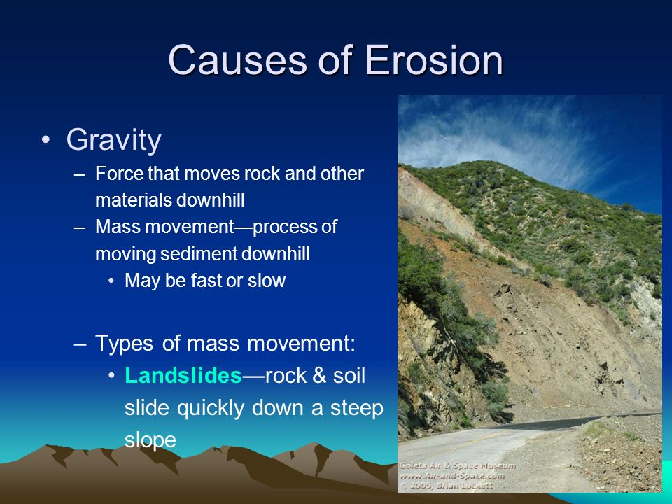 What forces cause all types of mass movement