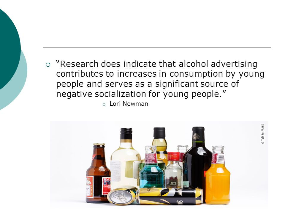 Does alcohol advertising increase consumption