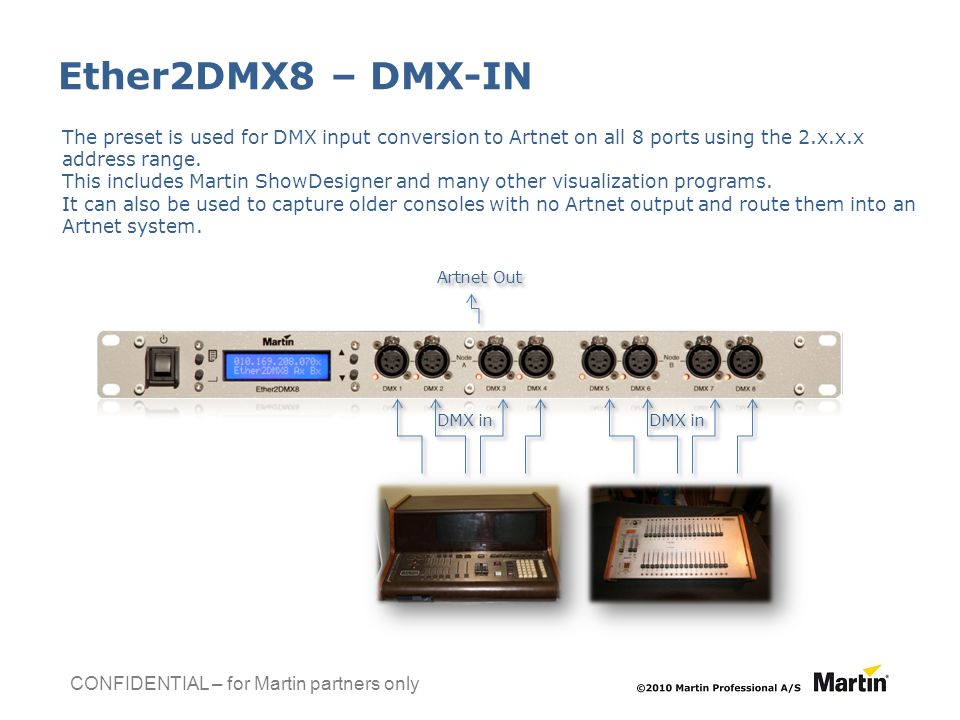 Product Launch Information Ether2DMX8TM Document revision: C