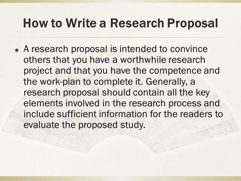 how to write a research plan