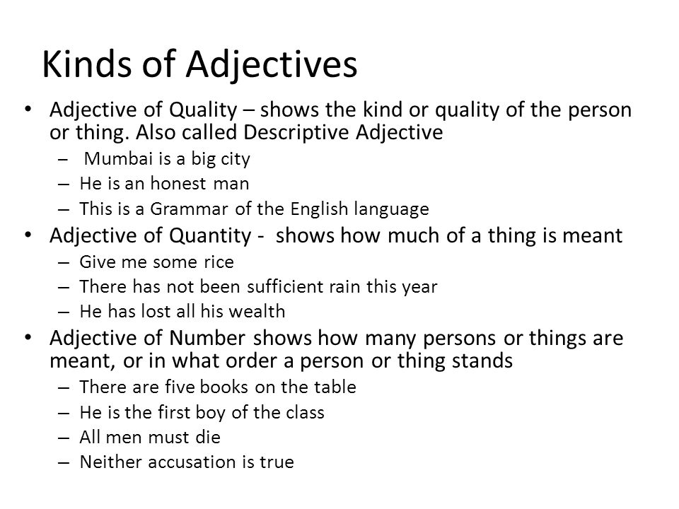 Lesson 3a Language Training Ppt Video Online Download. Kinds Of Adjectives Adjective Quality Shows The Kind Or Person. Worksheet. Worksheet On Adjectives Of Quality At Mspartners.co