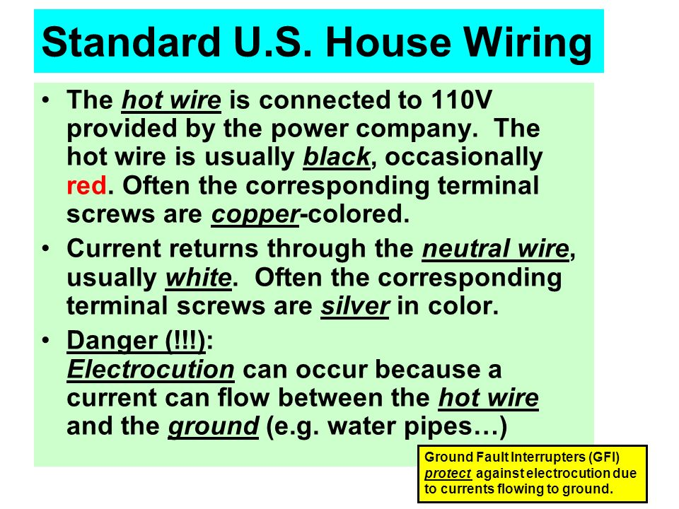 Physics 106 Lesson #17 Home Wiring - ppt video online download