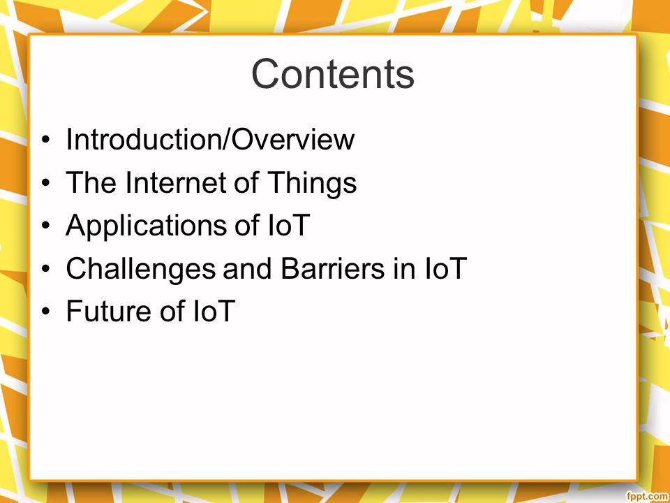 Internet Of Things Ref Slideshare Ppt Video Online Download