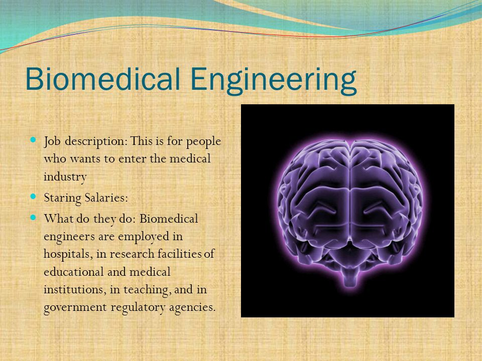 Biomedical Engineering Job Description | The Six Disciplines Of Engineering Ppt Video Online Download