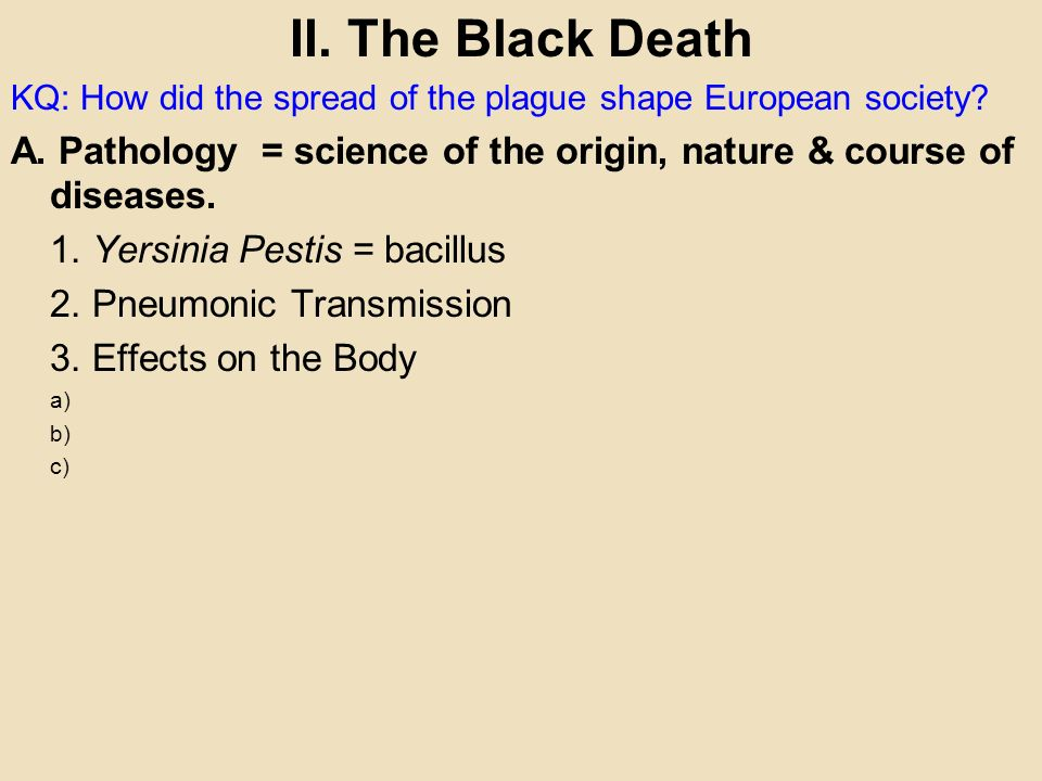 what impact did the black death have on european society