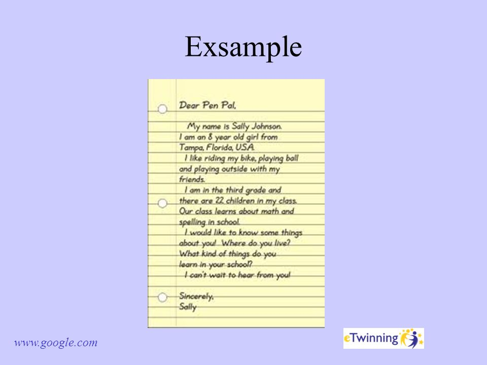 different types of informal letters 2 exsample