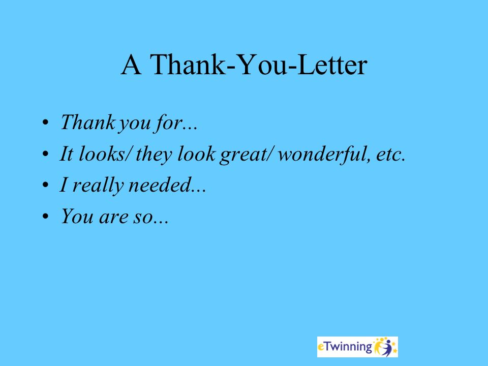 a thank you letter thank you for