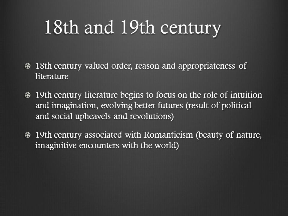 eighteenth century english literature International journal of literature and arts 2015 3(2): 18-21 20 eighteenth century as we have seen, he had a native talent and deep attraction for narrative.