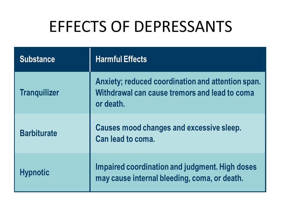 narcotics, stimulants, and depressants ppt video online download32 effects of depressants