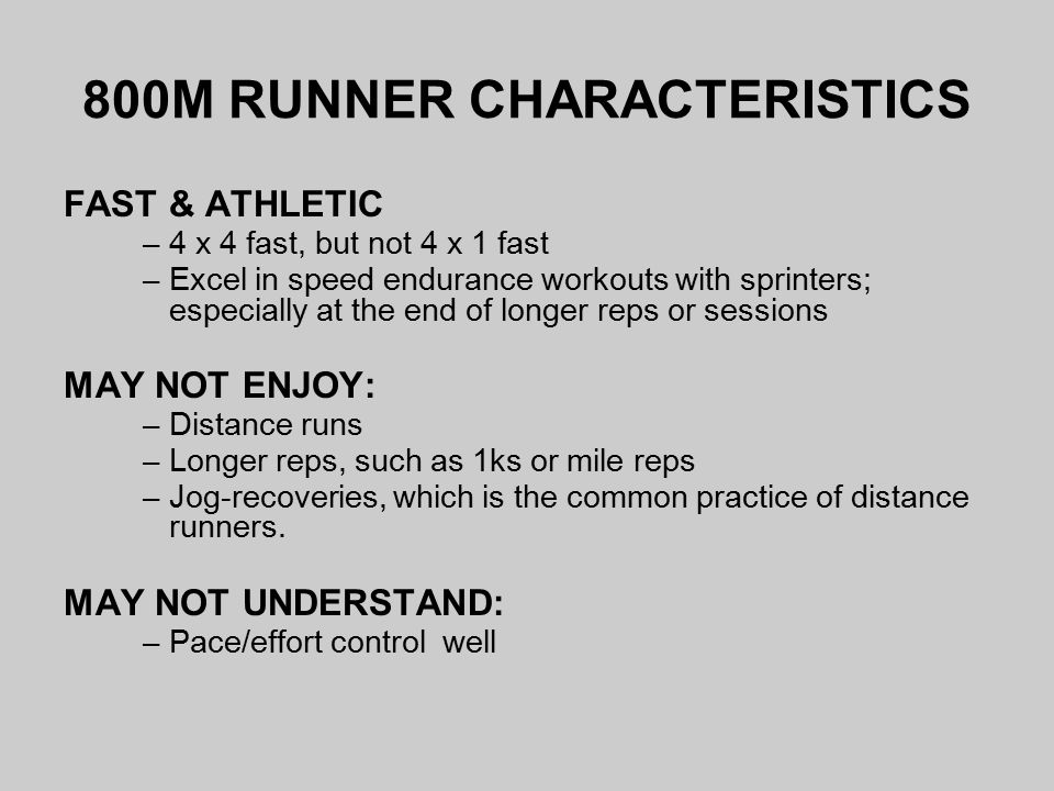 TRAINING 800M RUNNERS: XC TO TRACK - ppt video online download