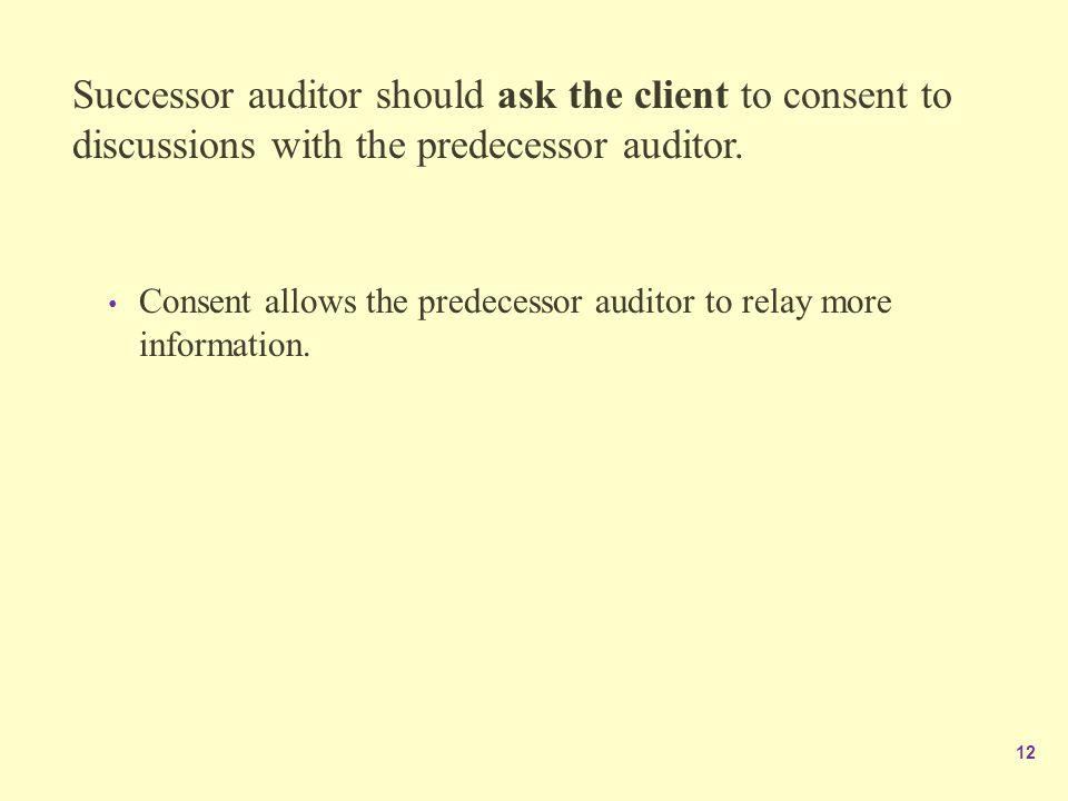 predecessor auditor