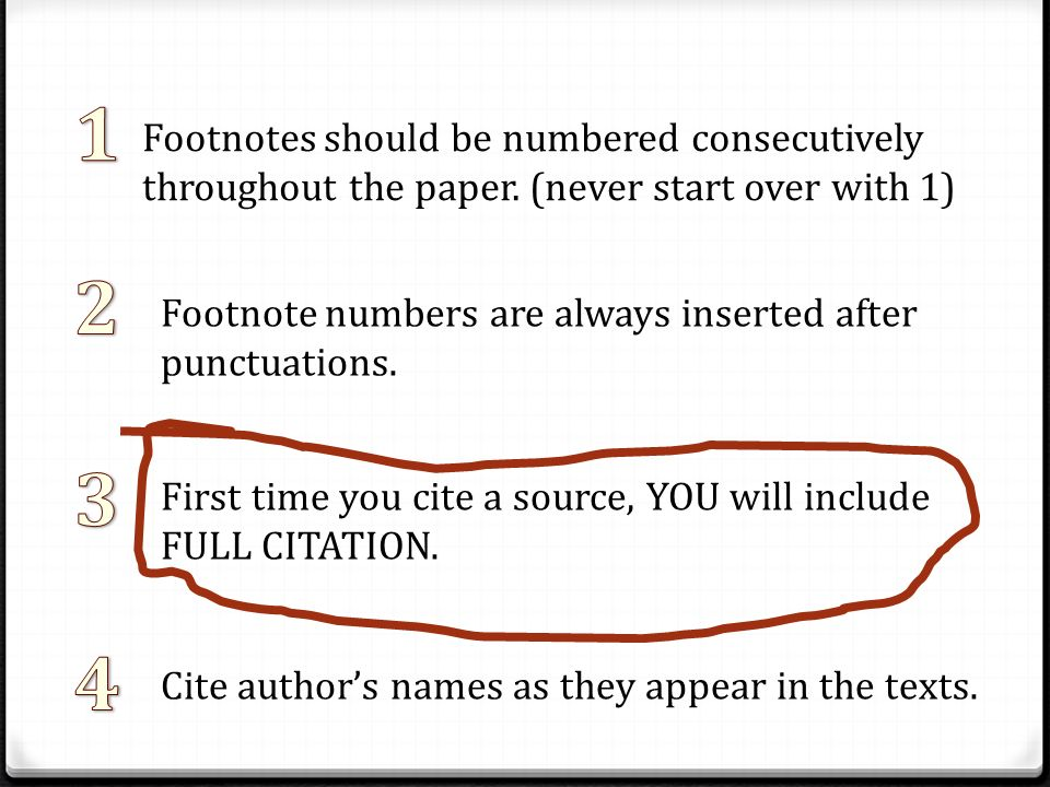 footnotes and bibliography format
