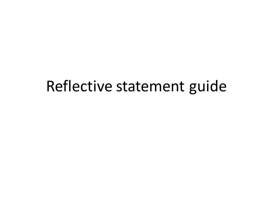 english reflective statement Essays - largest database of quality sample essays and research papers on cipd reflective statement.