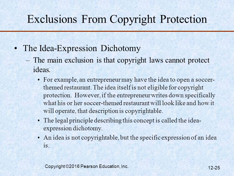 Exclusions From Copyright Protection