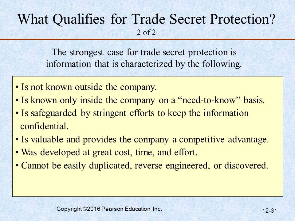 What Qualifies for Trade Secret Protection 2 of 2