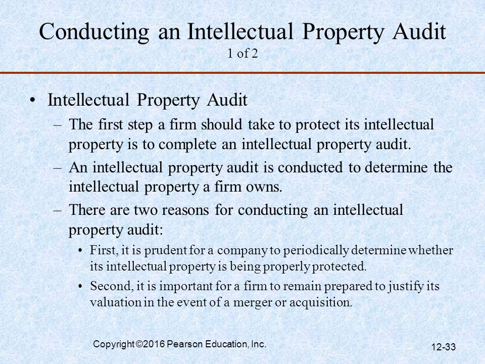 Conducting an Intellectual Property Audit 1 of 2