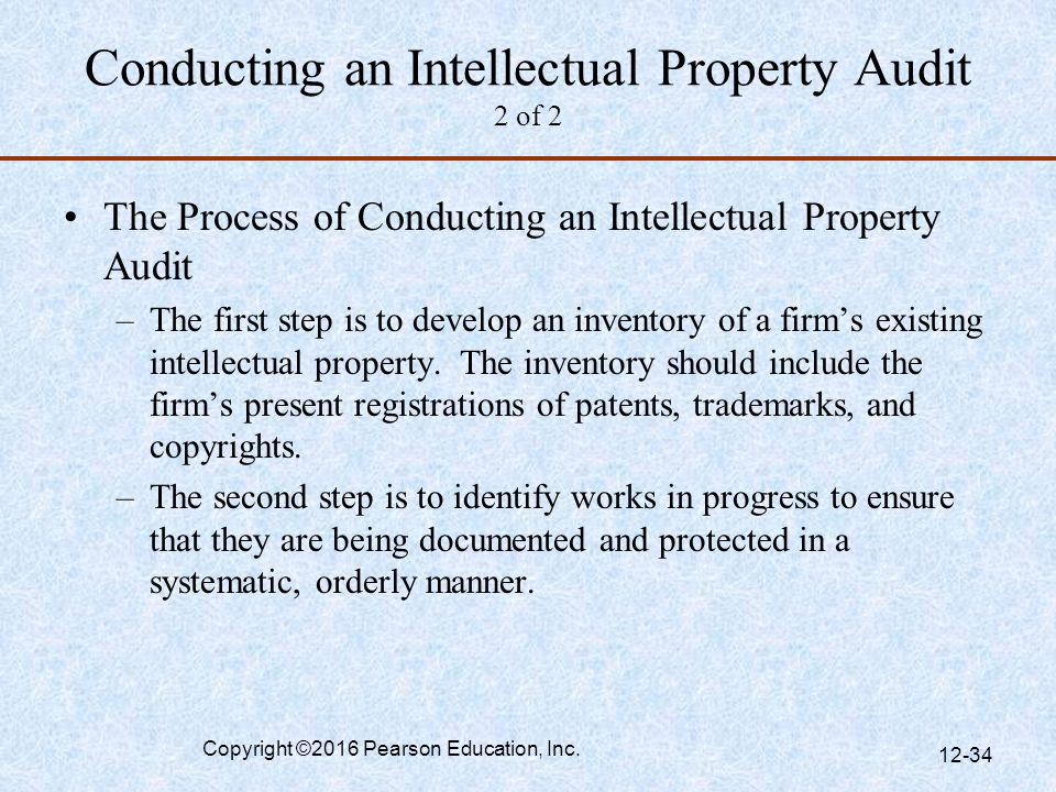 Conducting an Intellectual Property Audit 2 of 2