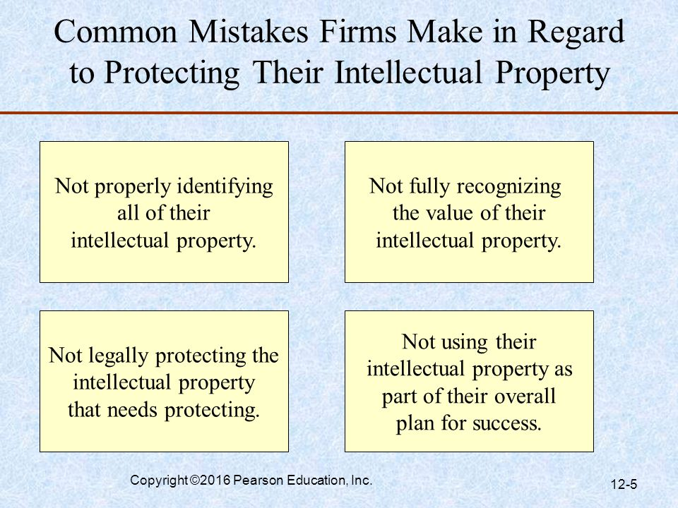 Common Mistakes Firms Make in Regard to Protecting Their Intellectual Property