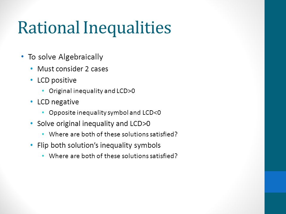 Solving Rational Equations Inequalities Ppt Video Online Download