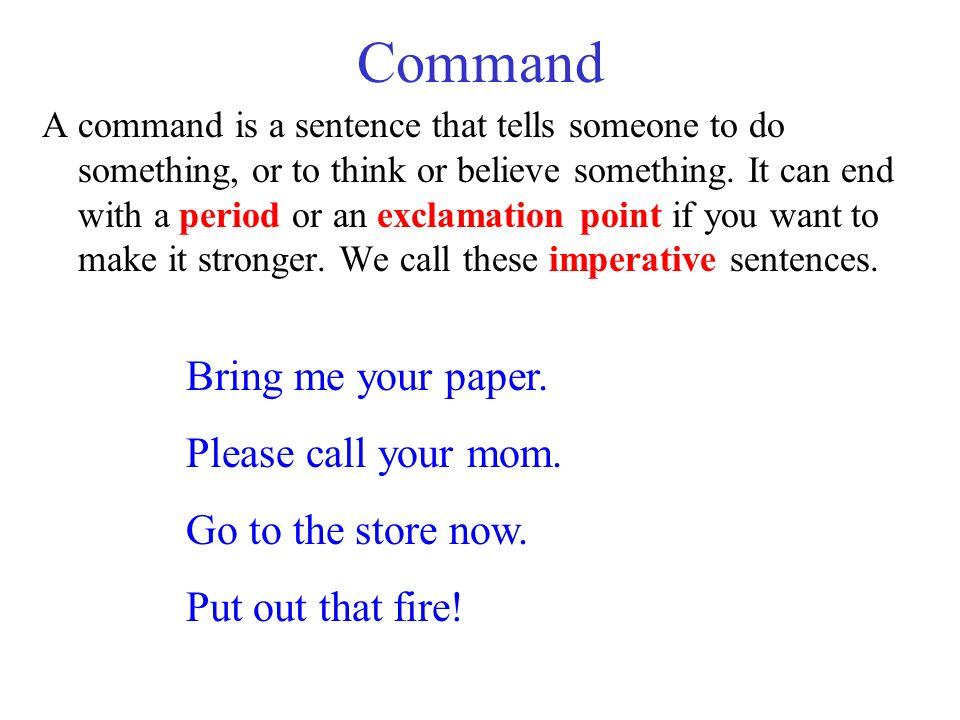 Four Types of Sentences and their Punctuation Marks - ppt download