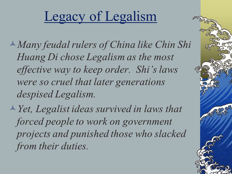 Legacy of Legalism