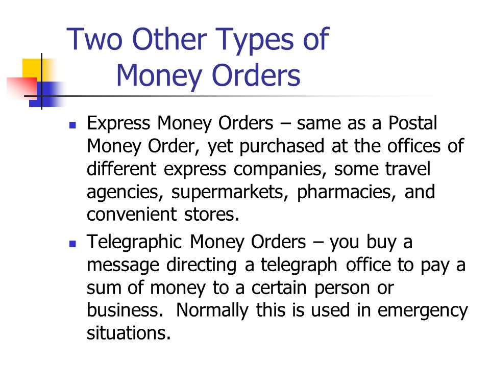Using Checks And Other Payment Methods - ppt video online download