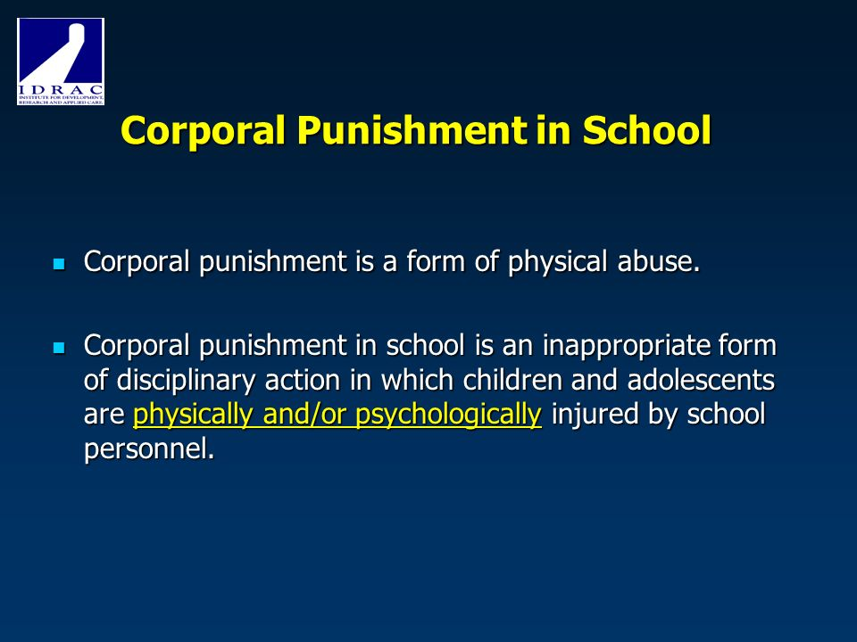 corporal punishment as a form of discipline