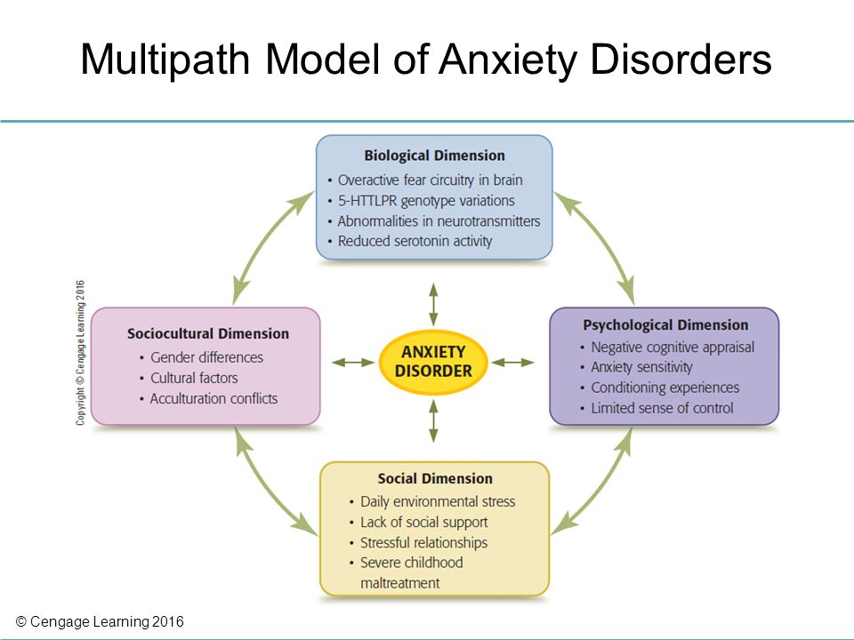 gender differences in anxiety disorders The gender differences may be related to how the sexes deal with their emotions women are more likely to internalize their emotions and withdraw, leading to depression and anxiety.