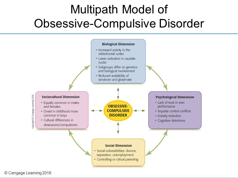 components of obsessive compulsive disorder Obsessive-compulsive disorder (ocd) is characterized by recurrent, intrusive, and distressing thoughts, images, or impulses (ie, obsessions) and repetitive mental or behavioral acts that the individual feels driven to perform (ie, compulsions) to prevent or reduce distress.
