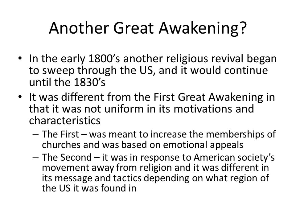 characteristics of the second great awakening