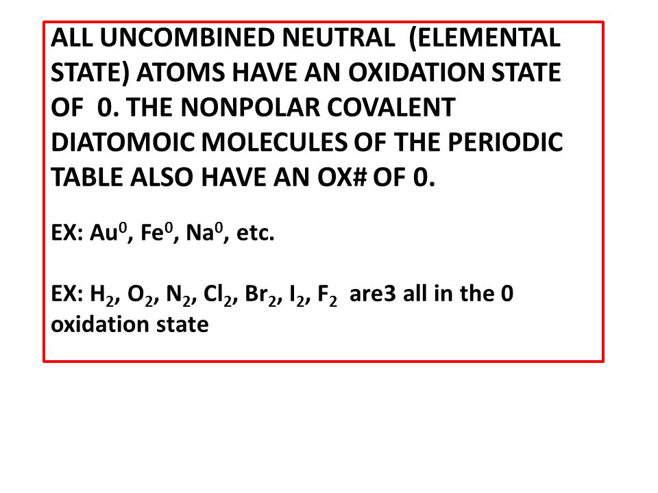 Rules Of Oxidation Number Assignment Ppt Video Online Download