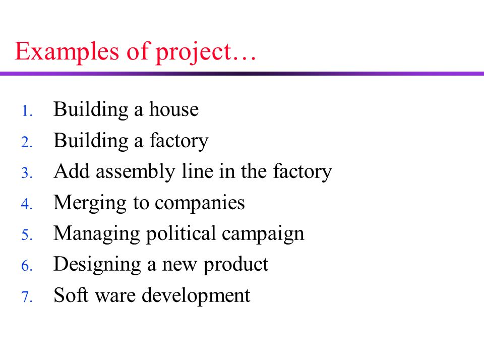 project management outline what is project mean examples of