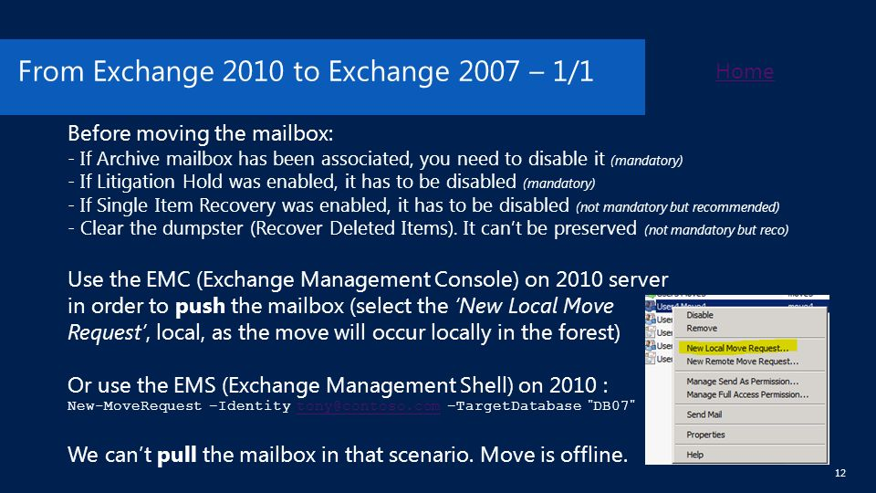 Exchange Server Move Mailboxes Guided Walkthrough Version