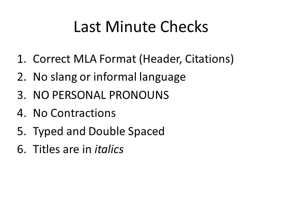 last minute checks correct mla format header citations ppt download