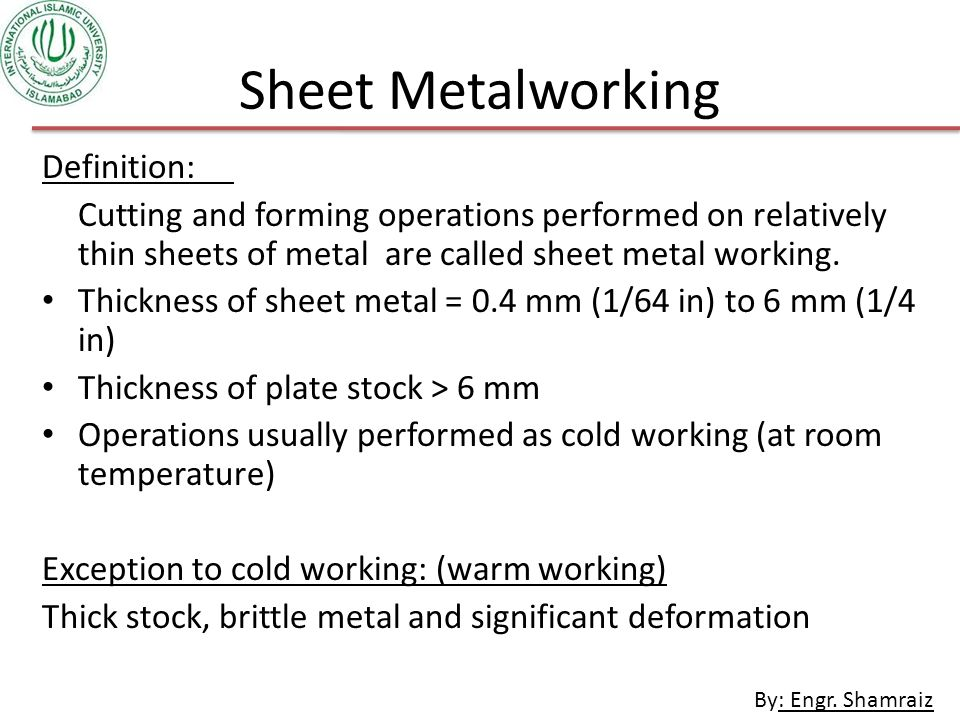 MT-284 MANUFACTURING PROCESSES - ppt video online download