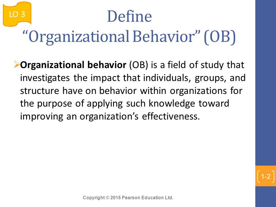 application of organizational behaviour