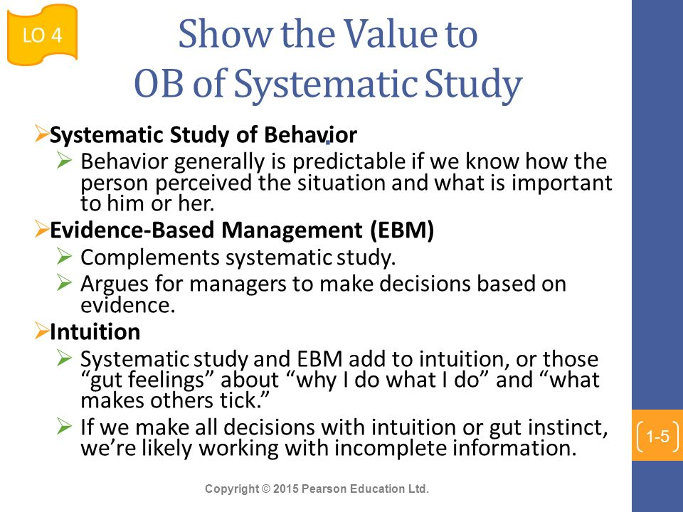 systematic study of organizational behavior