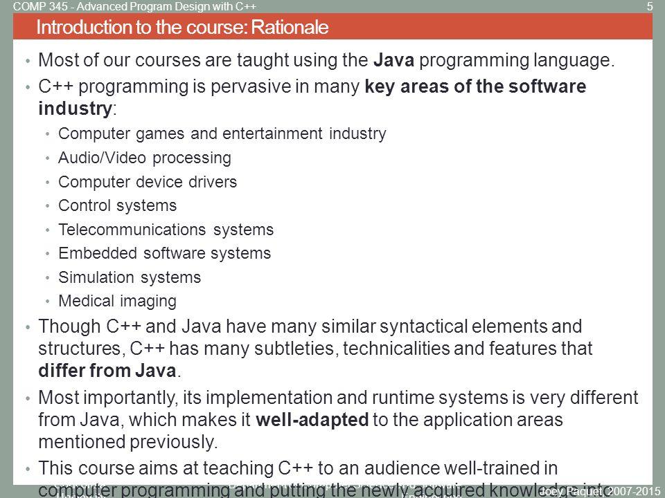 Advanced Program Design with C++ - ppt video online download