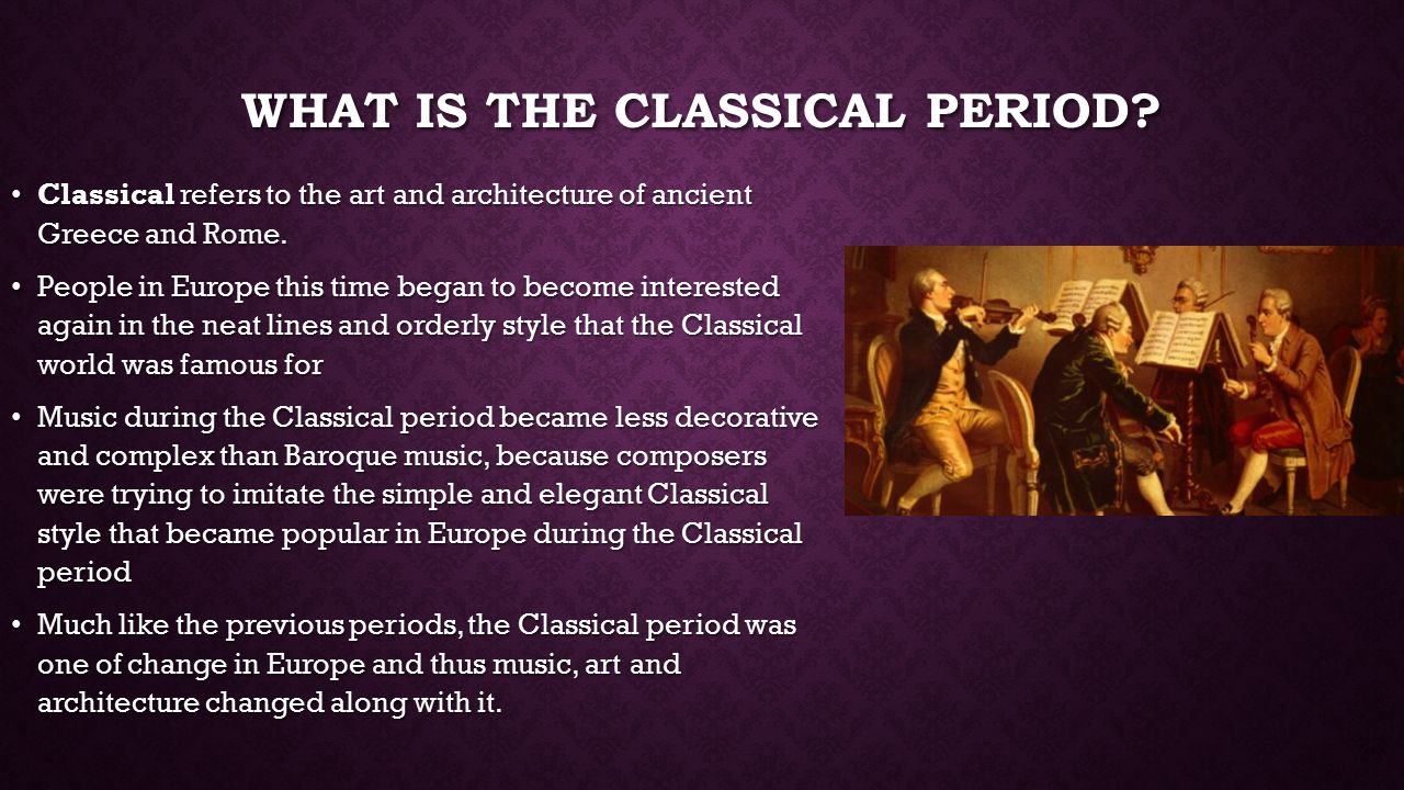 neoclassical period essay Neoclassicism is a revival of the many styles and spirit of classic antiquity inspired directly from the classical period, which coincided and reflected the developments in philosophy and other areas of the age of enlightenment, and was initially a reaction against the excesses of the preceding rococo style.