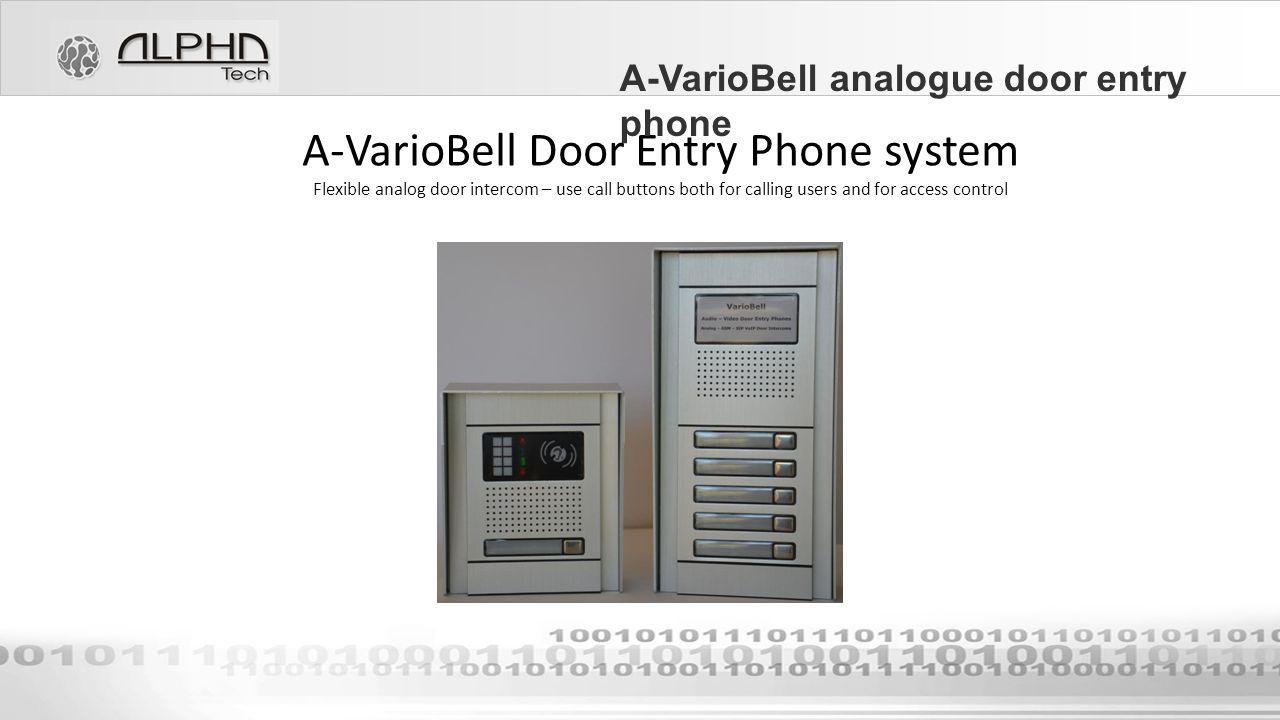 Alphatech Technologies Sro A Variobell Door Entry Phone Ppt