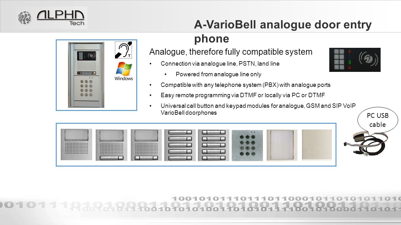 Alphatech Technologies Sro A Variobell Door Entry Phone Ppt