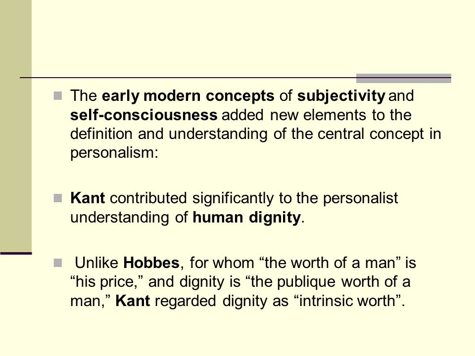 example of personalism