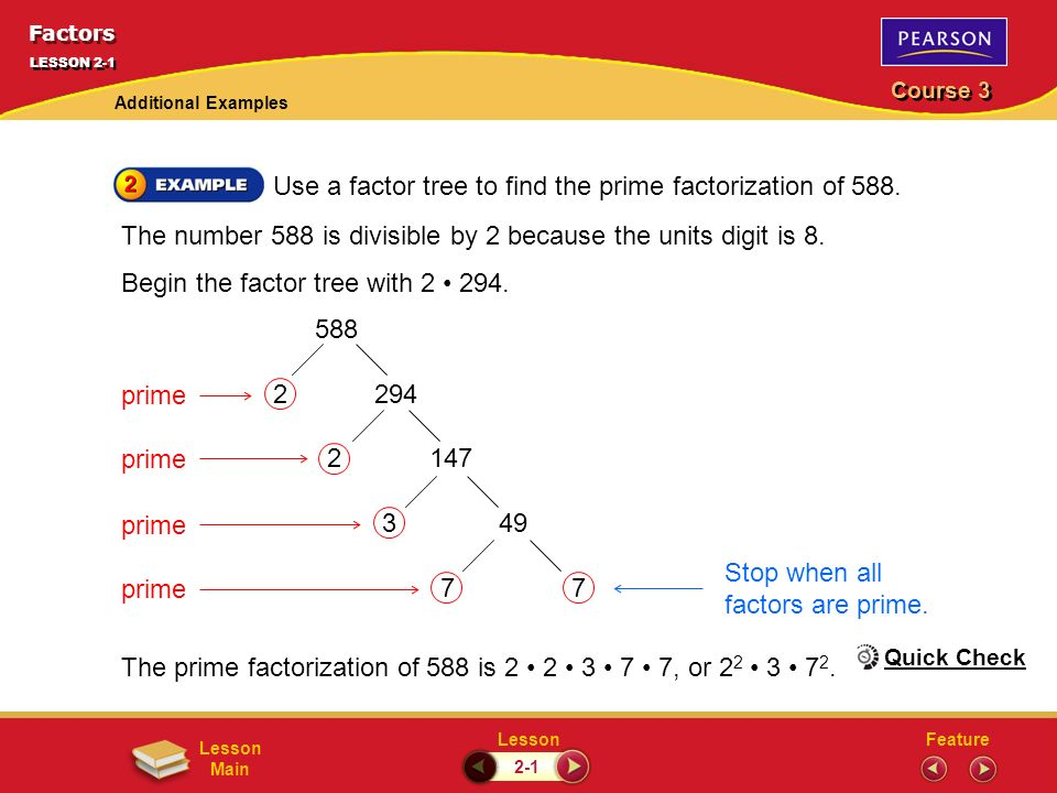 Factors LESSON 2-1 Problem of the Day - ppt download
