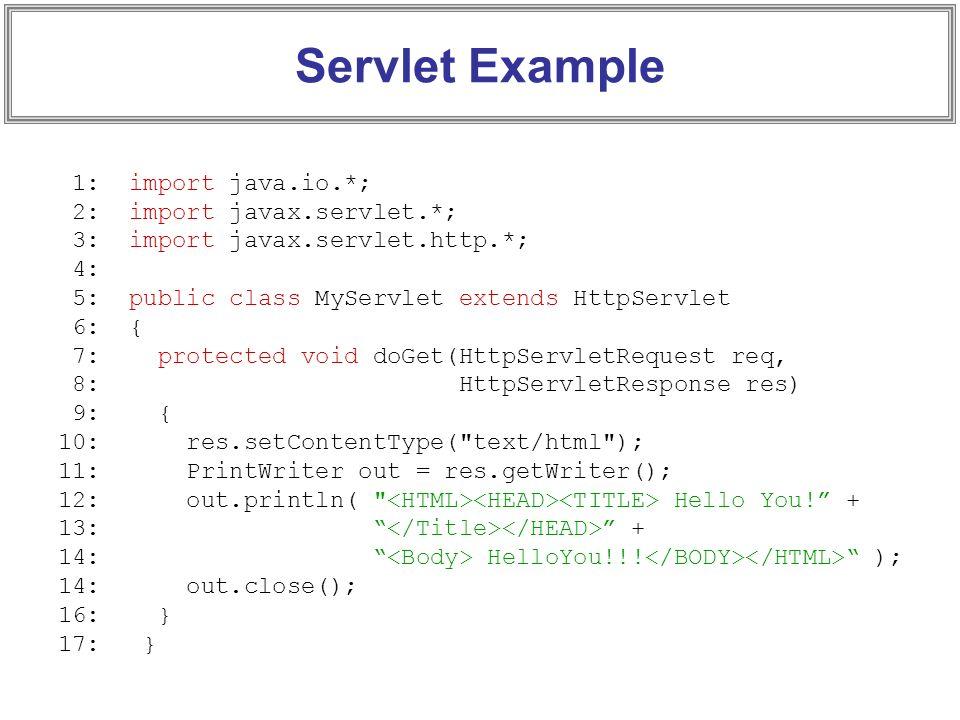 Java servlet doget example.