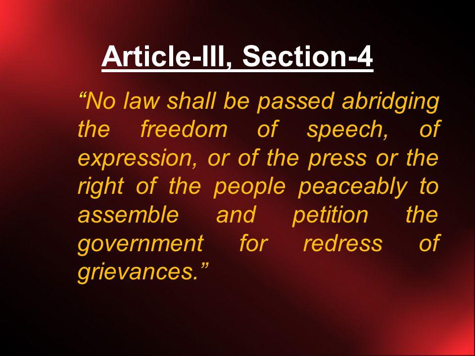 philippine constitution freedom of speech