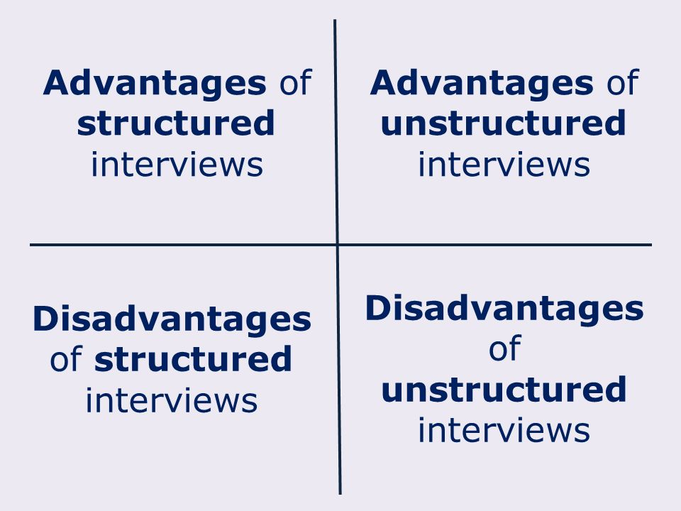 advantages of unstructured interviews