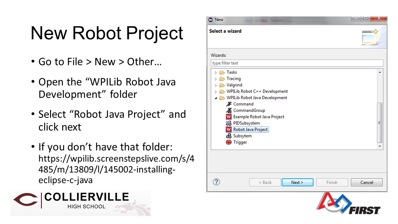 Session 11 Intro To Frc Api Ppt Video Online Download Java Breadboard Simulator This Is How You Can Use The Program New Robot Project Go File Other